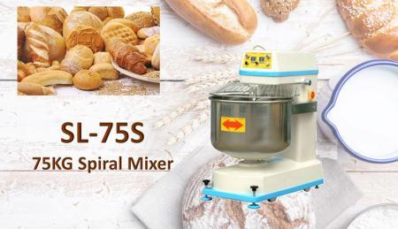 Misturador Espiral - Misture suavemente a massa de pão, permitindo que desenvolva a estrutura adequada do glúten.