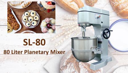 Impastatrice planetaria da 80 litri - La planetaria serve per impastare ingredienti come farina, uova, vaniglia, zucchero.