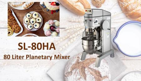 80 Liter Planetary Mixer - Planetary mixer is for mixing ingredients like flour, egg, vanilla, sugar.