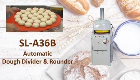 Divisor automático de massa e redondo - O divisor e arredondador automático de massa é usado para dividir a massa e o arredondamento.