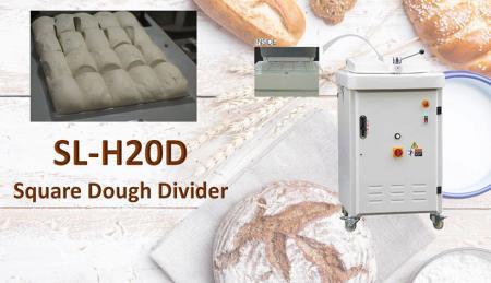 quadratum dividens - Dividendo quadrata dividens adhibetur a commistione fermenti, quadratum magnitudine aequabat.