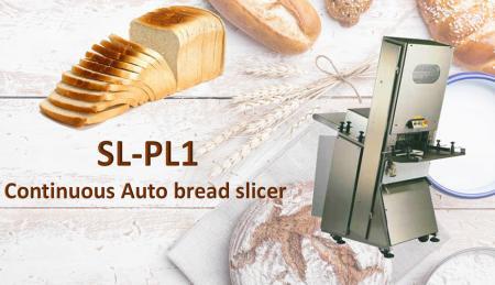 Affettatrice per pane automatica continua - L'affettatrice automatica per toast è progettata per affettare toast e pane a velocità continua.