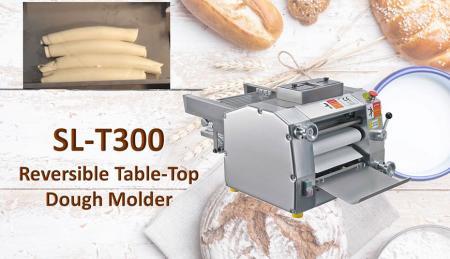 Moldeo de masa de mesa reversible - La moldeadora de masa de mesa reversible se utiliza para enrollar la masa firmemente.