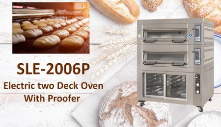 Electric Deck Oven with Proofer - Electric Deck Oven with proofer is used for baking breads, cakes and cookies.