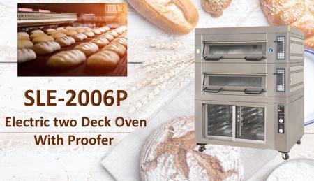 Forno elettrico a piani con lievitazione - Il forno elettrico a ponte con cella di lievitazione viene utilizzato per cuocere pane, torte e biscotti.