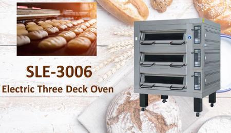 Forno elettrico a piani - Utilizzato per cuocere pane, biscotti e torte con controllo automatico della temperatura.