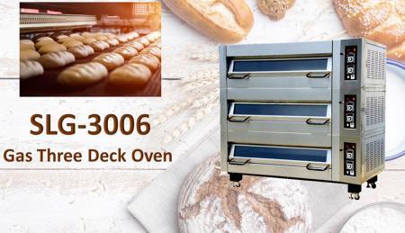 Serie di due vassoi del forno di piattaforma del GAS - Utilizzato per la cottura al forno, pane, biscotti e torte con controllo automatico della temperatura.