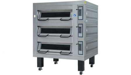 GAS Deck Oven Three Tray Series - Used for baking, breads, cookies and cakes with automatic temperature control.