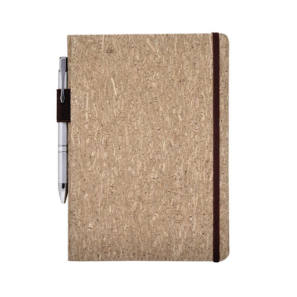 書背筆插軟木精裝筆記本