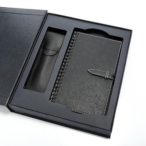 32K筆記本+皮筆+筆套禮盒