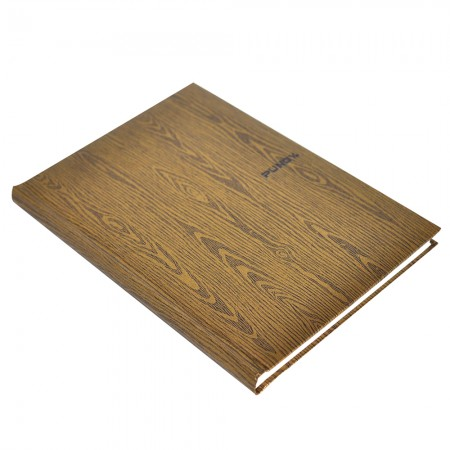 Shiny Wood Art paper Hardcover Notebook