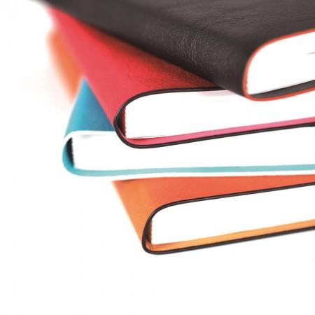 軟皮油邊款精裝筆記本
