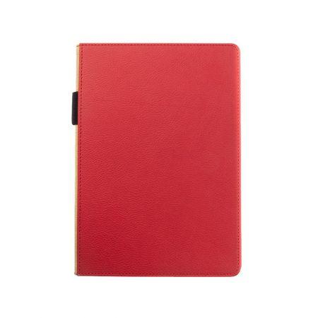 책 뒷면이 겹친 하드커버 노트북