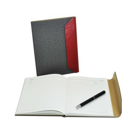三折式布紋精裝筆記本