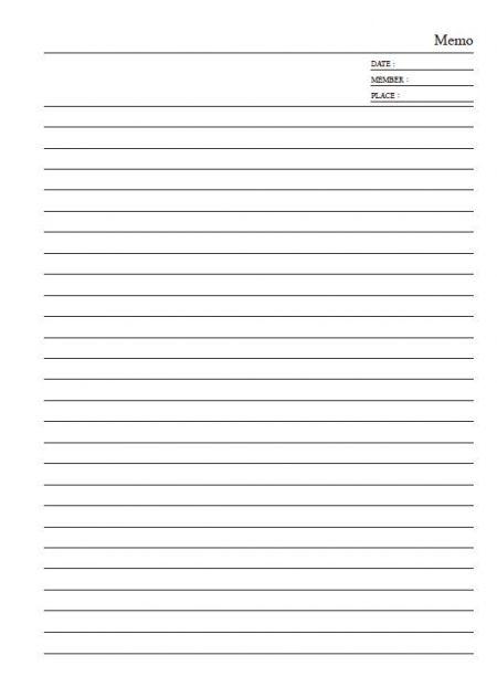 内側のページ形式16K-Cスタイル-ノートブックメモ