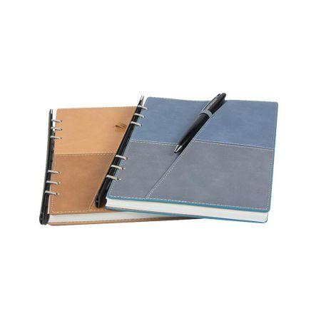 301-8款雙色搭接斜層袋抽取式筆記本