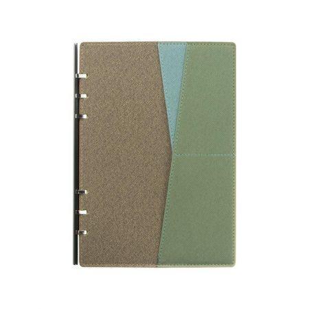 三色搭接層袋款抽取式筆記本