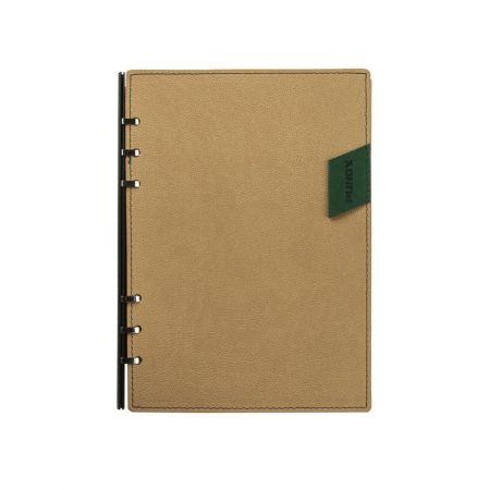 304-8款撞色皮標款抽取式筆記本
