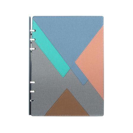 幾何拼布款抽取式筆記本