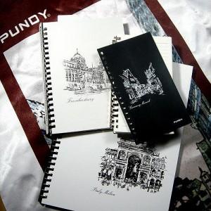 Individuelles Notizbuch aus Leder