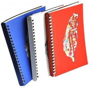Gestanztes buntes Notizbuch