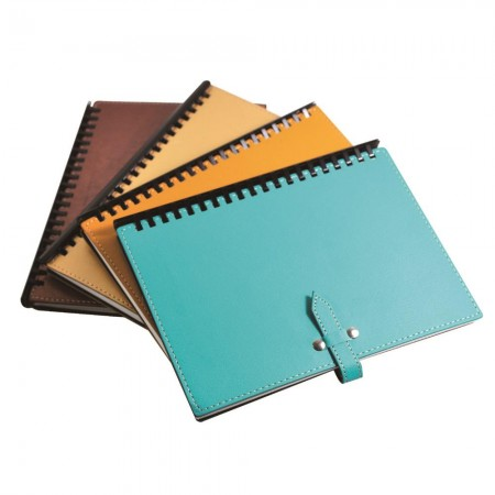 Notebook with Rivet Buckle