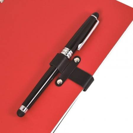 鉚釘扣筆插款抽取式筆記本
