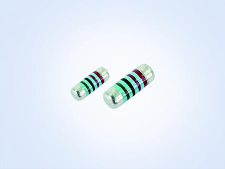 金属フィルム      MELF resistor、車両グレード0.25W 2.2オーム1%25PPM