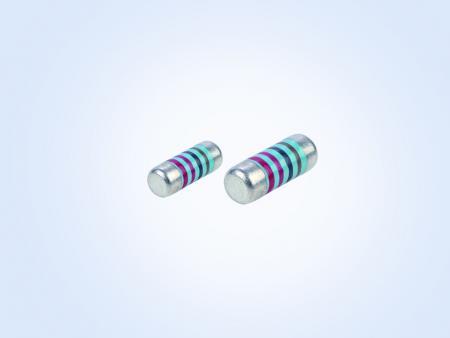 金属フィルム MELF resistor 0.16W 1オーム1%25PPM