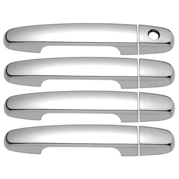 FOR TOYOTA YARIS 07-11 CHROME 4 DOORS HANDLES COVERS W//OUT PASSENGER KEYHOLE