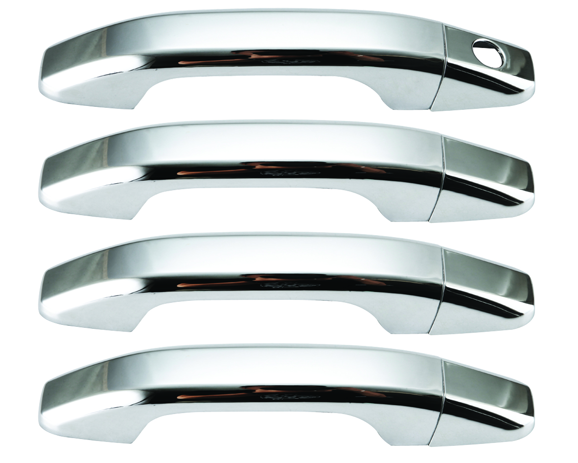 Chevrolet Silverado Plastic Chrome Door Handle Covers - 14-15 CHEVROLET SILVERADO