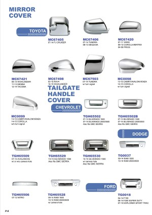 Plastic Chrome Plated Auto Accessories E-Catalog