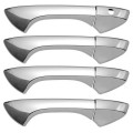 Honda Accord Plastic Chrome Door Handle Covers - 08-12 HONDA ACCORD