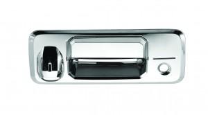 Toyota Tundra Chrome Tailgate Handle Covers - 14-15 TOYOTA TUNDRA W/ KEYHOLE AND CAMERA HOLE