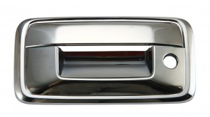 Chevrolet Silverado Chrome Tailgate Handle Covers - 2014 CHEVROLT SILVERADO W/O CAMERA HOLE