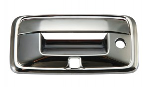GMC Sierra Krom Bagaj Kapağı Kolu Kapakları - 2014 CHEVROLT SILVERADO KAMERA DELİKLİ