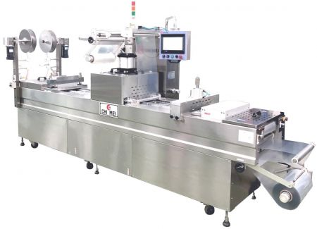 Machine de thermoformage avec fonction cutanée - Machine d'emballage sous vide automatique, machine d'emballage sous vide alimentaire, machine d'emballage sous vide, machine de thermoformage.