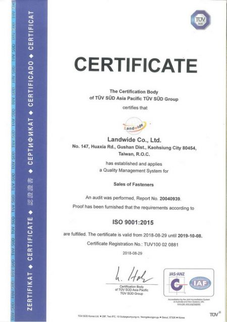 ISO-9001:2015 Certificate