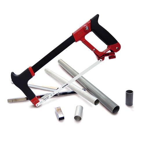 High-Tension Hacksaw Frame with Bi-Metal Blades