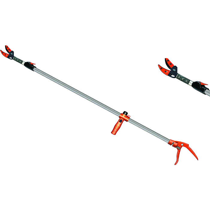 Long Reach Tree Pruner with Six Adjustable Settings - Soteck tree pruner with an extendable long arm