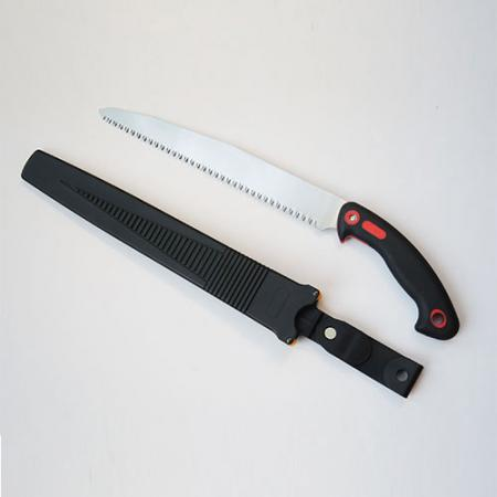 9.5inch (240mm) Pruning Saw with Plastic Sheath - Soteck straight blade pruning hand saw plus plastic scabbard