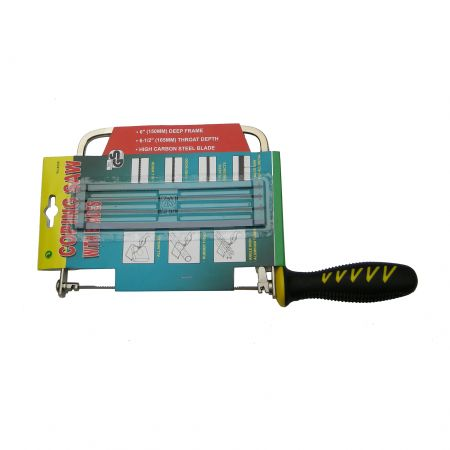 6inch (150mm) Deep Coping Saw with 4 Spare Blades - Coping Saw designed for straight and curved line cutting.