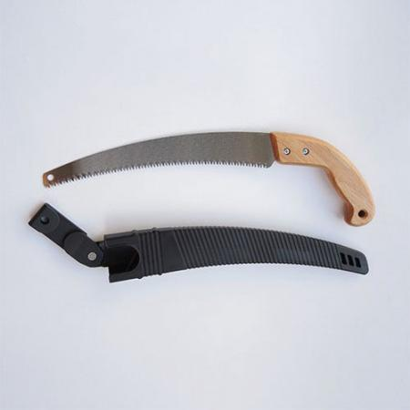 13inch (330mm) Curved Pruning Saw with Plastic Sheath - Soteck curved pruning saw including a plastic scabbard for trimming