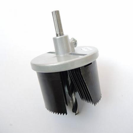 7-i-1 hullesav med høj kulstof - Hulsave med 2 tommer (50 mm) skæredybde.