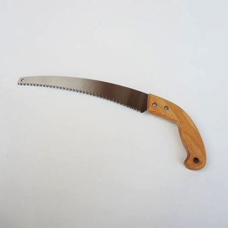 Curved Pruning Saw, Available in 3 Sizes - Soteck curved pruning saw with wooden handle for clean cuts