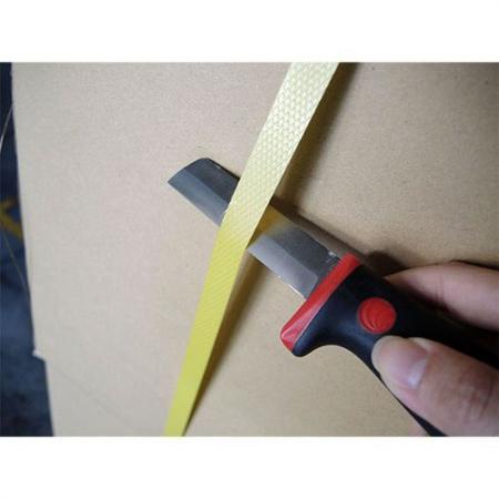 Cuchillo para cortar tiras de embalaje.