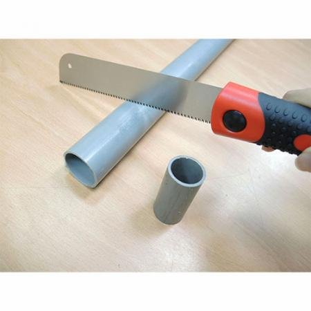Soteck Japanese saw for cutting pvc pipes.