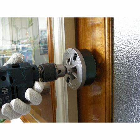 Soteck Hole Saw best for drilling doorknob holes.