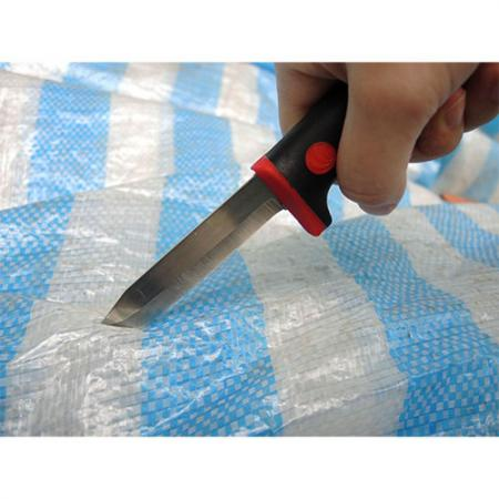 Cuchillo de demolición para cortar lonas para suelos.