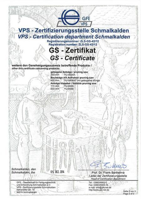 VPS GS -certifikat - Del2